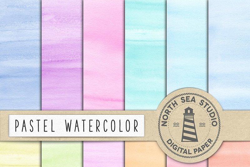 pastel-watercolor-digital-paper