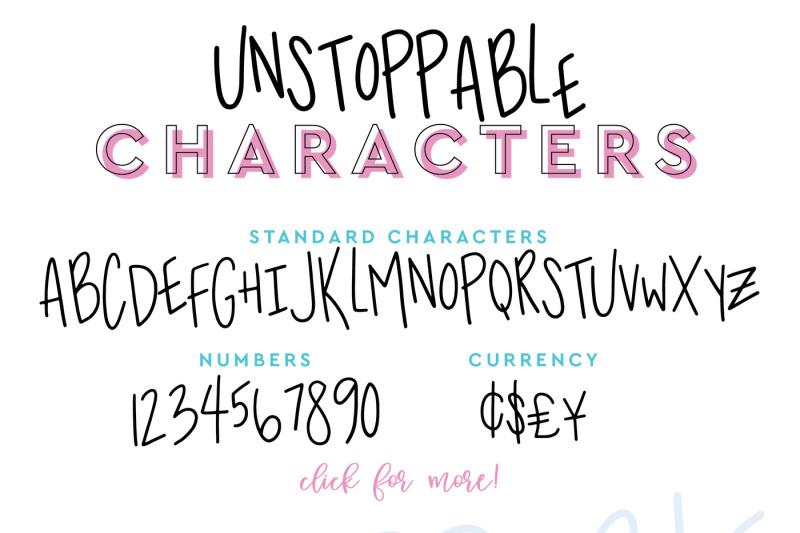 unstoppable-handwritten-font