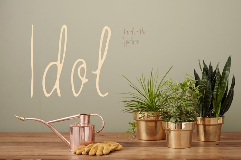 idol-handwritten-font