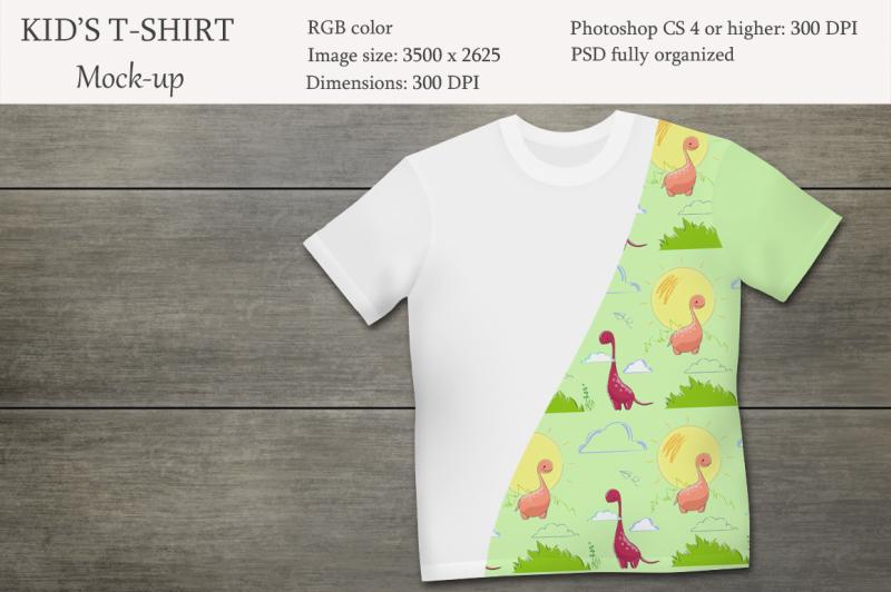 Free Kids t-shirt mockup. Product mockup. (PSD Mockups)