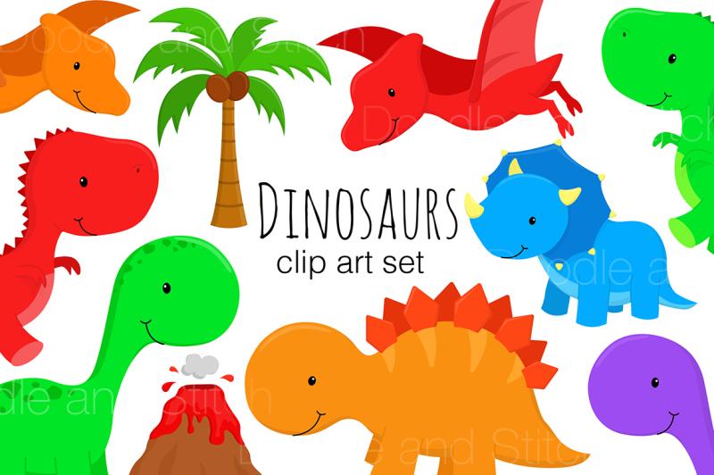 dinosaur-clipart-set