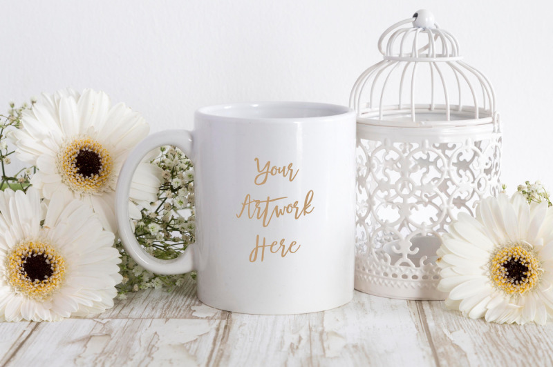 Free White Coffee mug mockup (PSD Mockups)