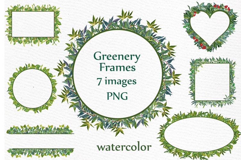 watercolor-greenery-frames-clipart