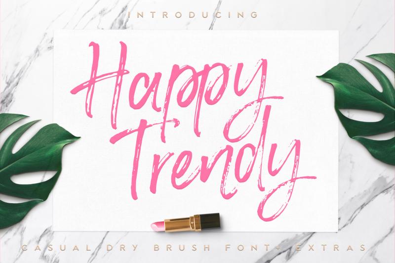 happy-trendy-font-extras
