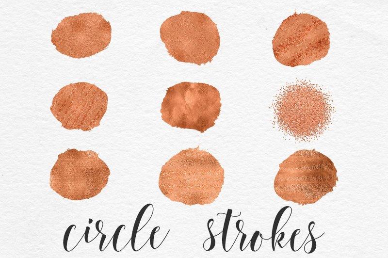 circle-brush-strokes-copper