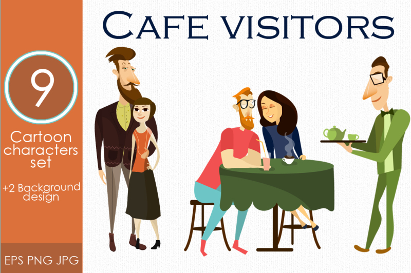 cafe-and-restaurant-visitor-vector-set