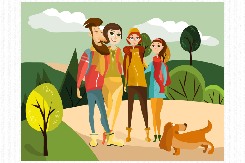 holidaymakers-characters-vector-set