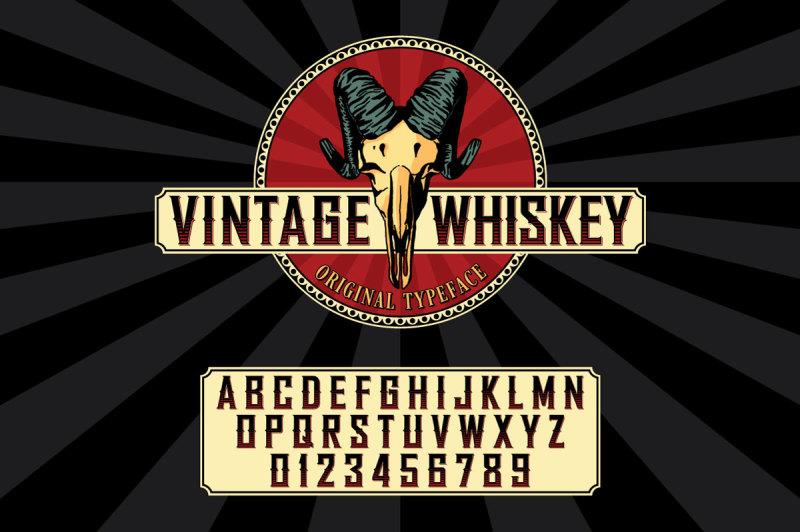 whiskey-label-font