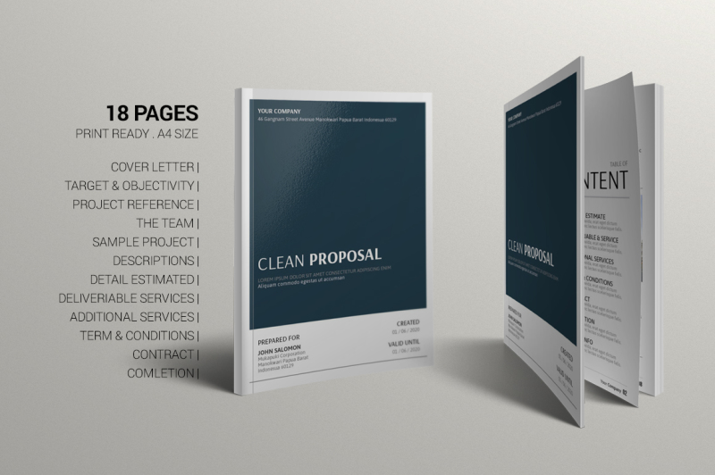 clean-proposal-template