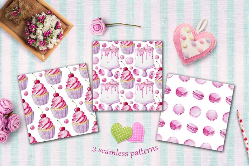 pink-sweets-watercolor-collection