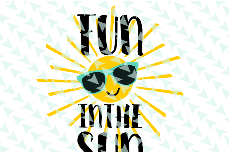 Fun In The Sun Svg Cut File By Minty Owl Designs Thehungryjpeg Com