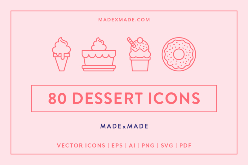 line-icons-ndash-dessert