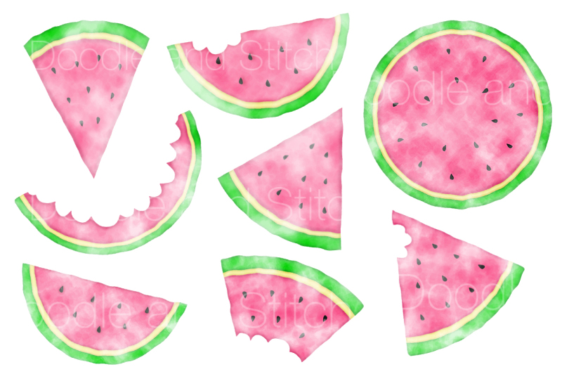 watercolour-watermelon-clipart-set
