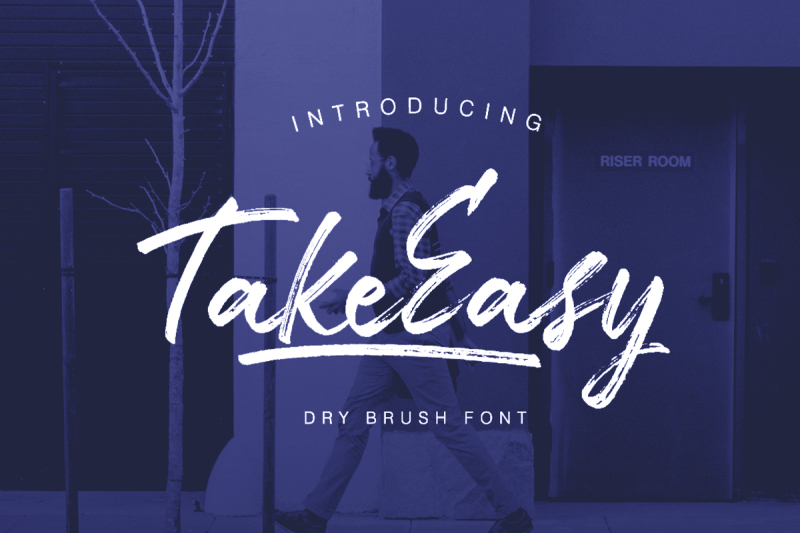 take-easy-dry-brush-font