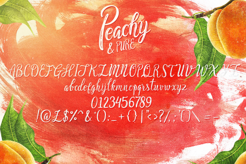 peachy-and-pure-typeface