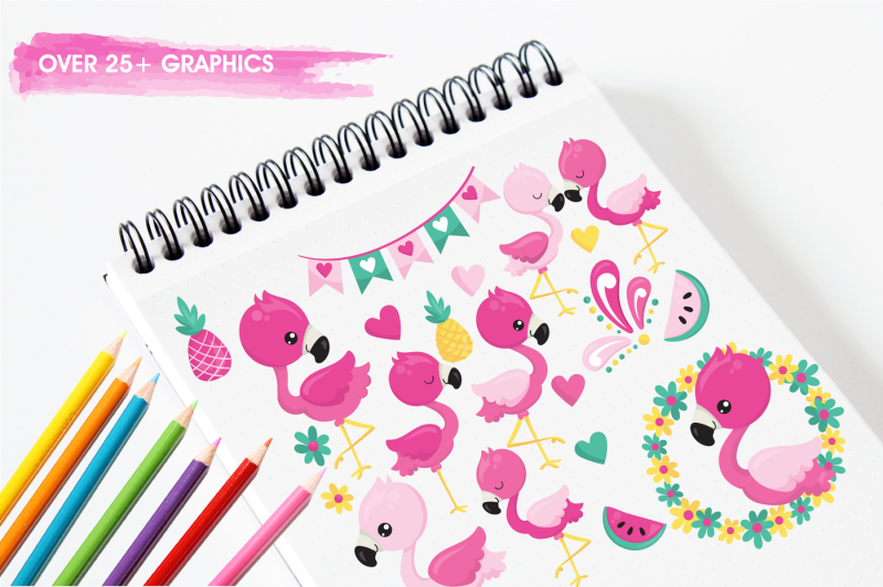 flamingo-illustrations-and-graphics