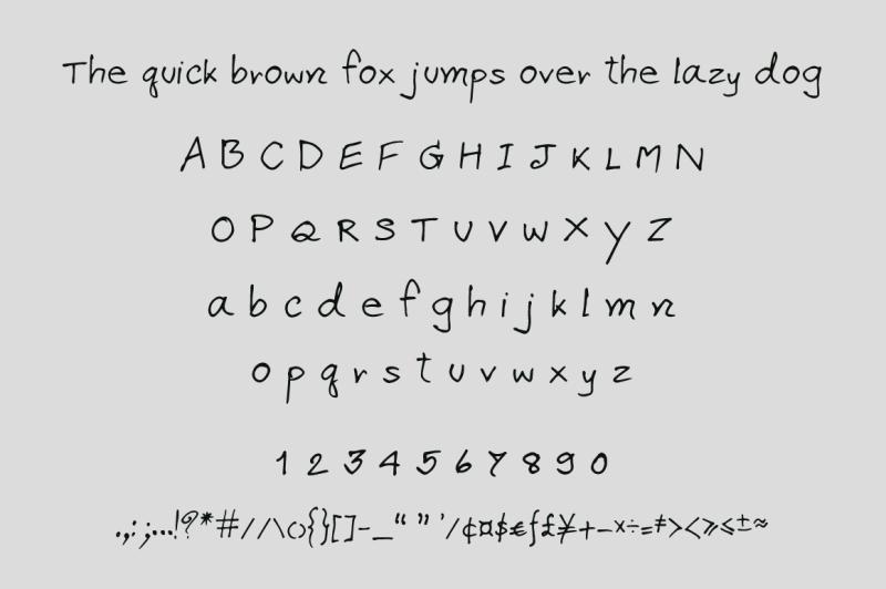 apirak-handwriting-typeface