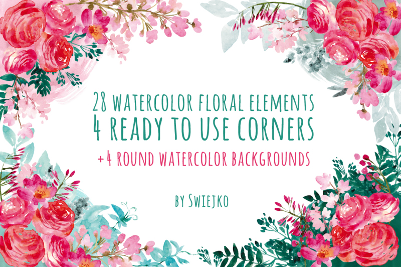 watercolor-flowers-floral-corners