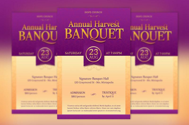 church-banquet-flyer-template