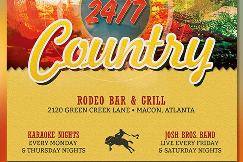 Country Bar Grill Flyer Template By Godserv Designs