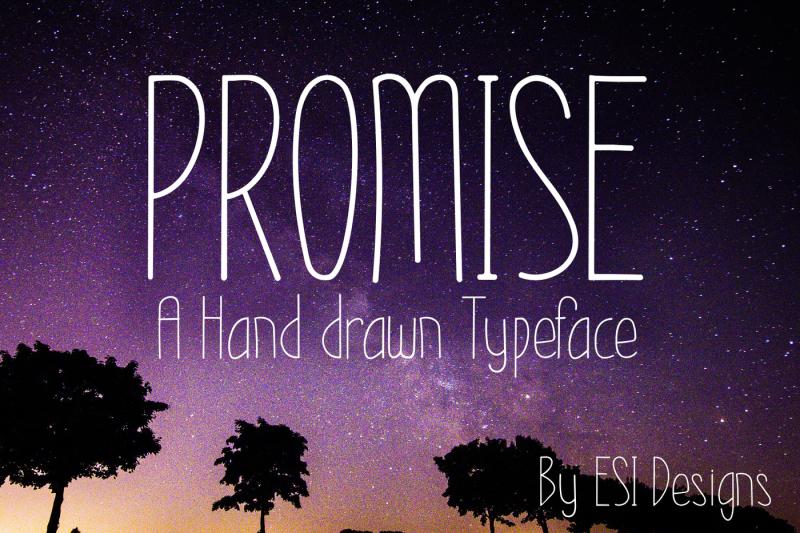 promise-modern-hand-drawn-font