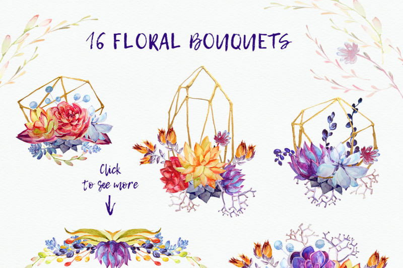 watercolor-succulents-clipart-psd