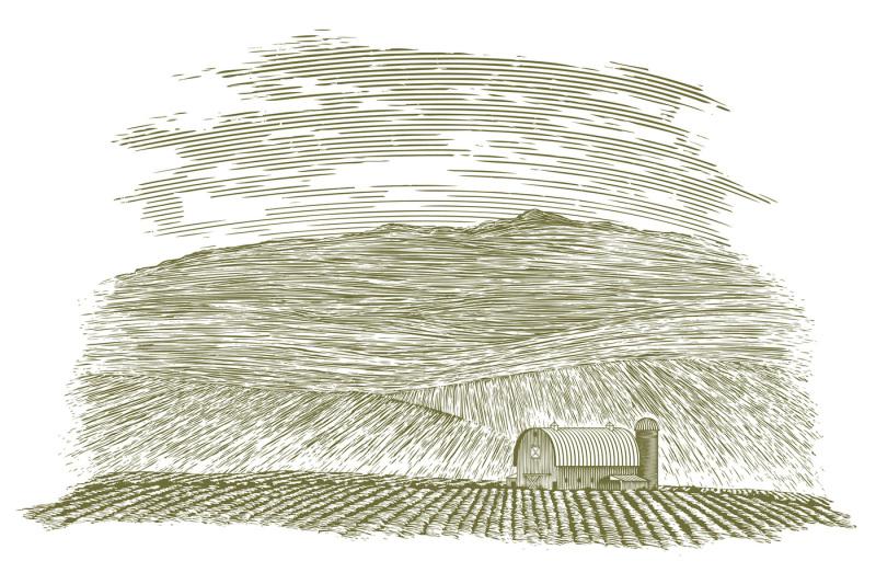 woodcut-farm-barn-and-field