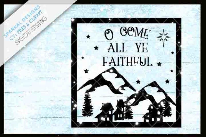 O Come All Ye Faithful Christmas Glass Block Design By Sparkal
