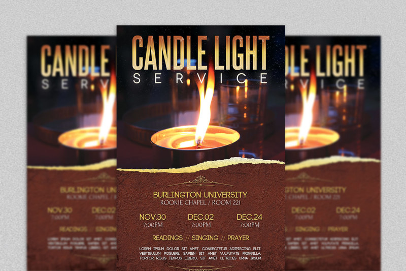 candle-light-service-flyer-template