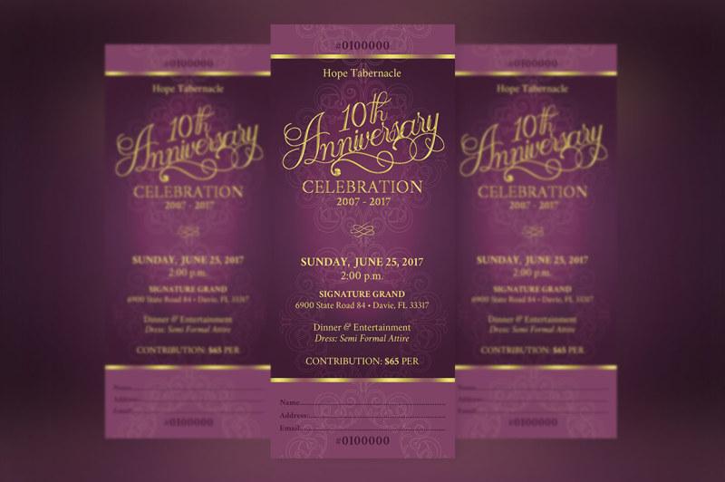 church-anniversary-banquet-ticket-template