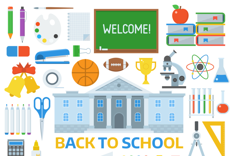 back-to-school-icons-set