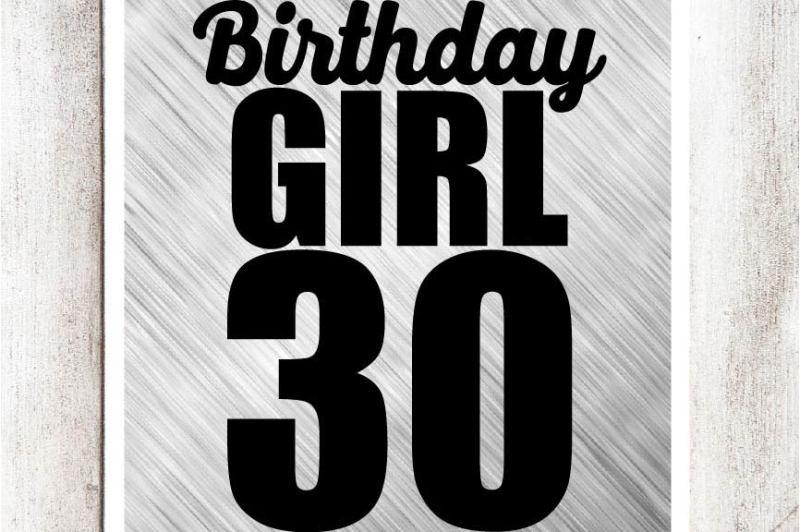 birthday-girl-30-svg-dxf-eps-file