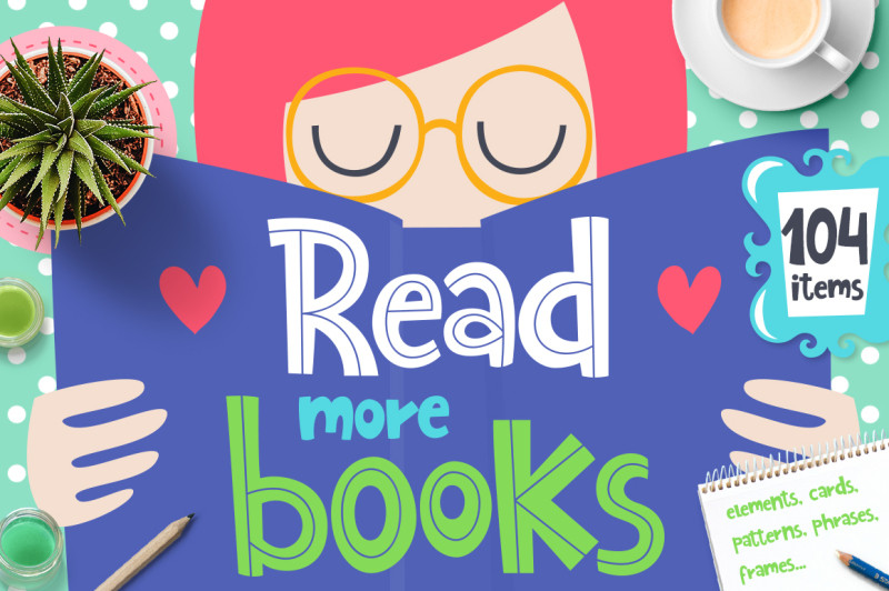 read-more-books-clipart-collection