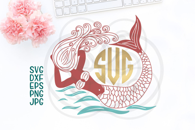 mermaid-cricut-file-hand-drawn-mermaid-ocean-svg-swimming-mermaid