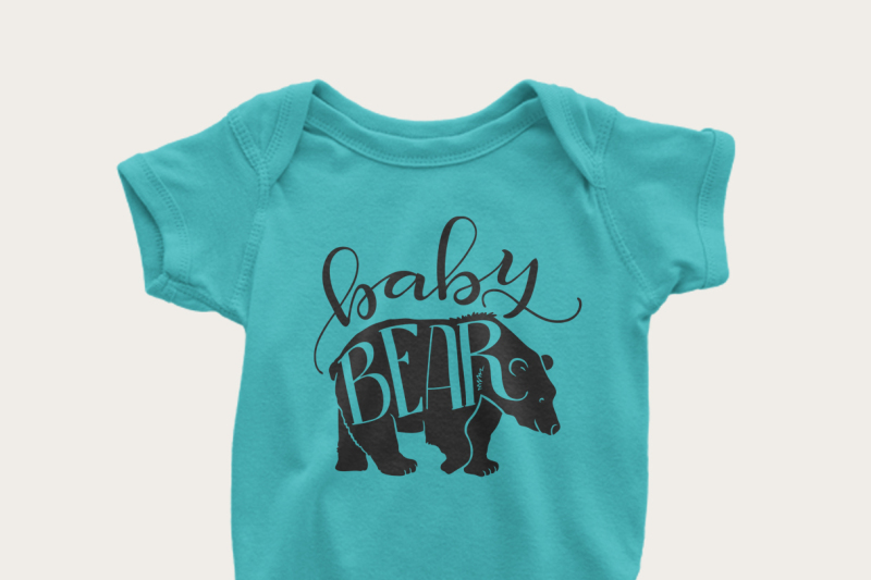 Baby Bear Svg Png Pdf Files Hand Drawn Lettered Cut File Graphic Overlay By Howjoyful Files Thehungryjpeg Com