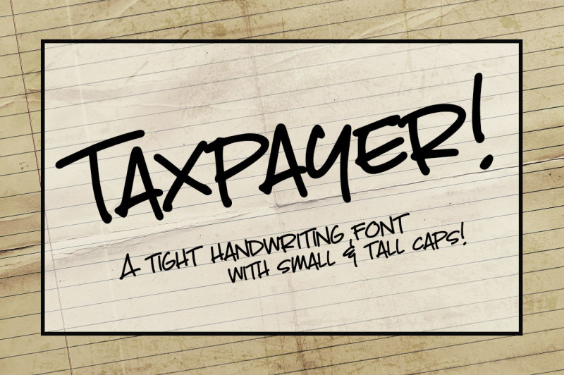 taxpayer-my-own-handwriting-font