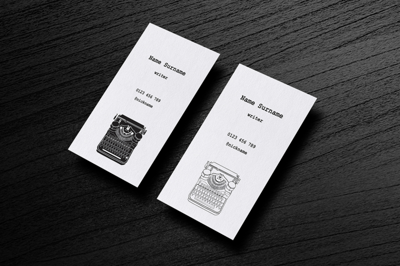 business-cards-with-typewriters