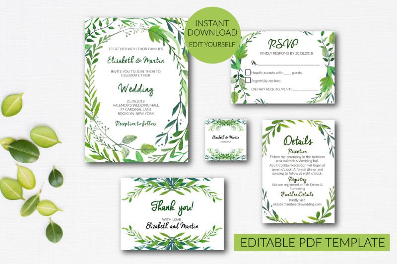 wedding-invitation-set-template