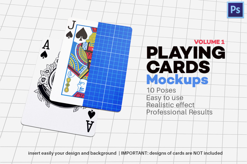 Free Playing Cards Mock-up V.1 (PSD Mockups)