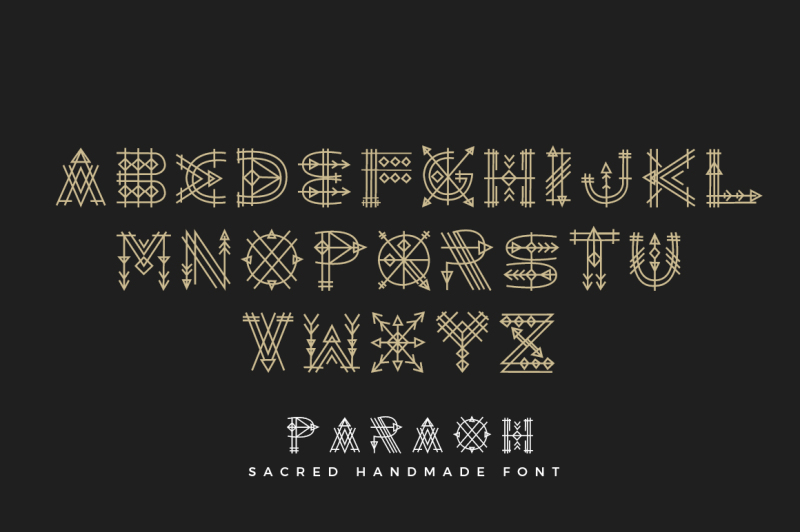 paraoh-sacred-font