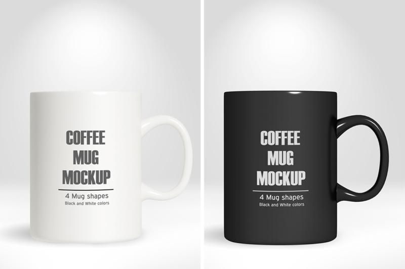 Free Coffee Mug/Cup Mockup vol.1 (PSD Mockups)