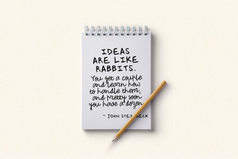rough-notes-a-handwritten-font