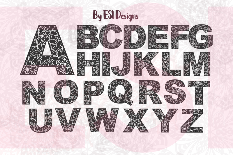 floral-mandala-alphabet-a-z-vector-design