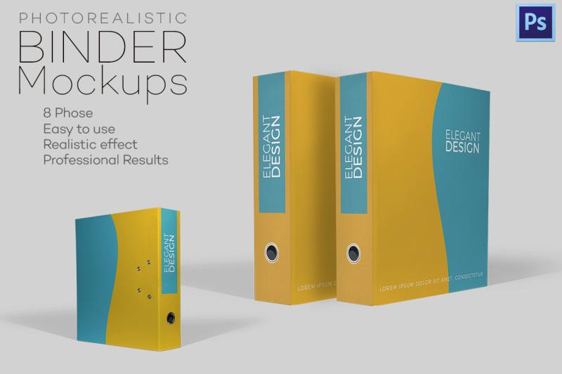 Free Photorealistic Binder Mockups (PSD Mockups)