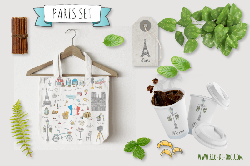 58-paris-color-hand-drawn-icons