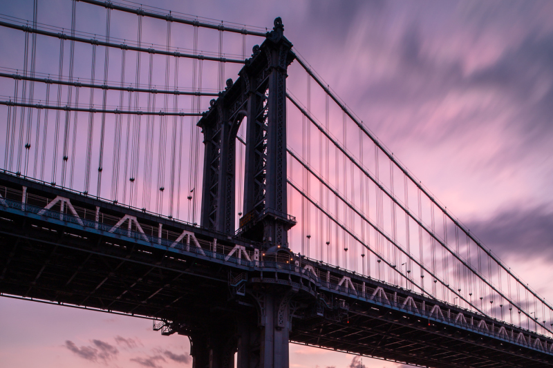 manhattan-bridge-during-sunset