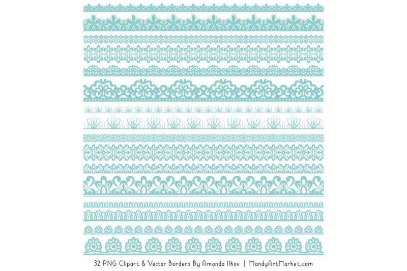 mixed-lace-clipart-borders-in-aqua