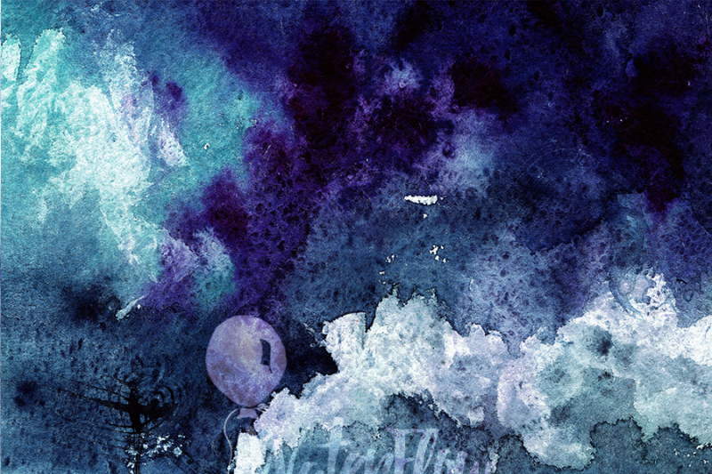 3-dark-night-watercolor-texture-digital-papers-blue-purple-teal-digital-download-300-dpi-12x16-inches