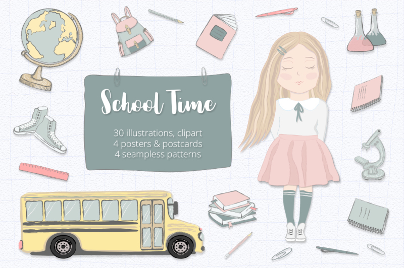 school-clipart-set