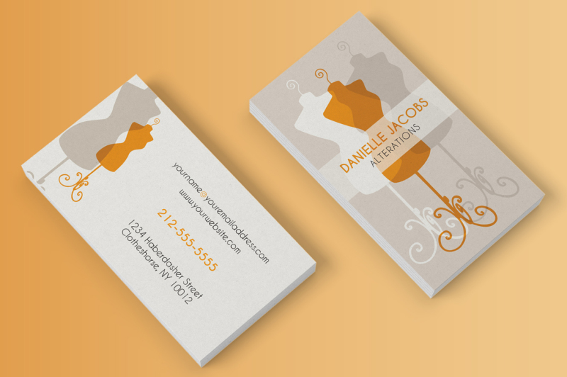 dress-form-business-card